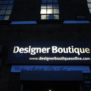 Designer Boutique Menswear at night!