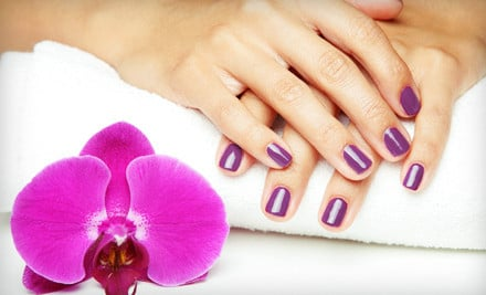 spa pedicures, manicures, gel or shellac manicures, acrylic nails