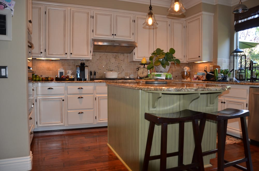 antique white and green kitchen cabinet re finish yelp