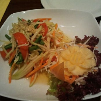 Shaved papaya salad
