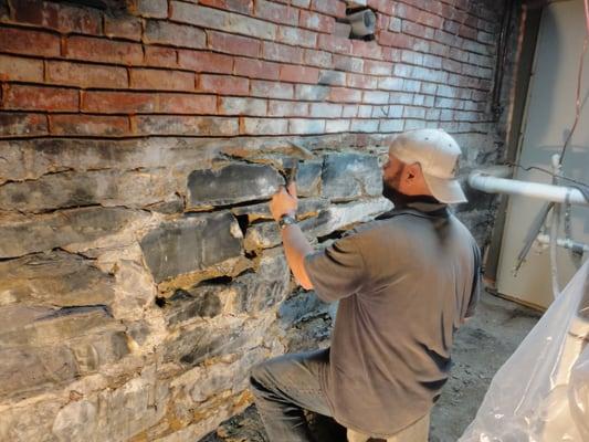 basement pointing of stone foundation yelp