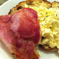 Bacon and eggs toast