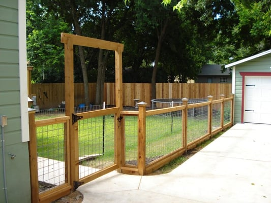 fence designs wood and wire 1