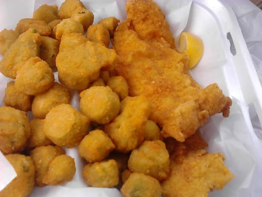 Fried okra fried whiting fish yelp for Best fried fish near me