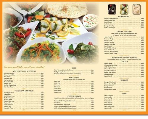 Milan indian cuisine for Milan indian restaurant
