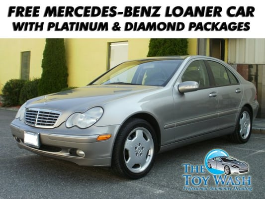 free mercedes benz loaner car with platinum diamond