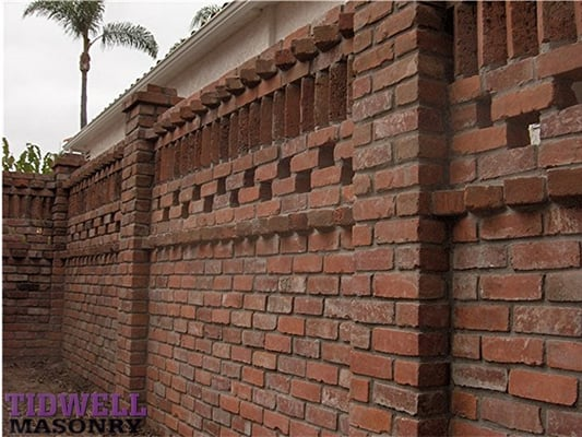 Privacy Screen Wall Built With Used Brick Yelp