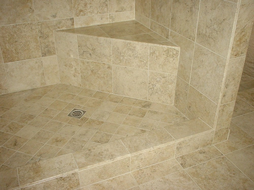 Shower enclosure, alcove, seat, curb, pan, floors and wall ...
