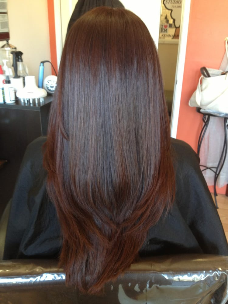 Hair After Color  Glaze Hair Cut And Brazilian Blowout  Yelp