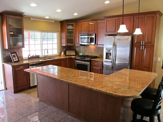 Complete Kitchen Remodel In Scripps Ranch Including All Custom Cabinets Granite Countertops