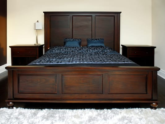 Solid wood king bed toronto yelp for B furniture toronto