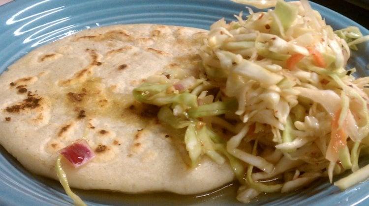 Mixed pupusa and curtido | Yelp