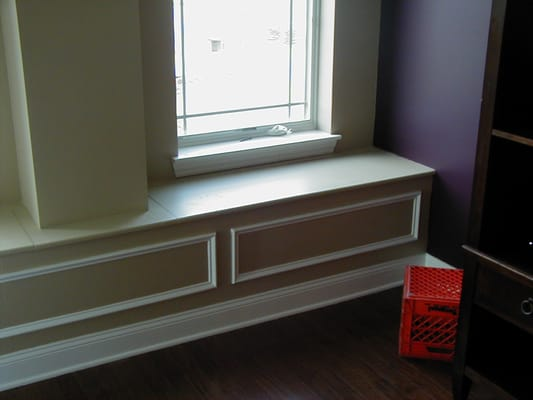built bench seat by window with storage yelp. Black Bedroom Furniture Sets. Home Design Ideas