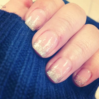 Gradient sparkles - shellac/gel polish HD Wallpaper