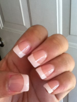 Acrylic nails with gel overlay | Yelp