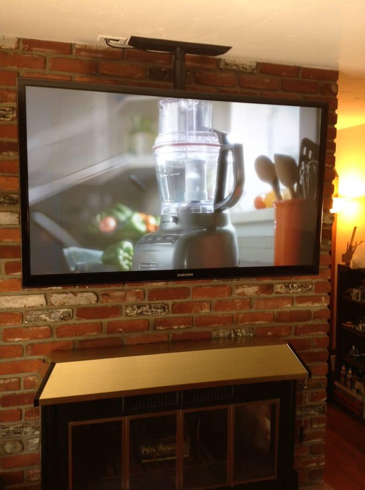 Creative Installation Large Flat Panel Tv Floating Over