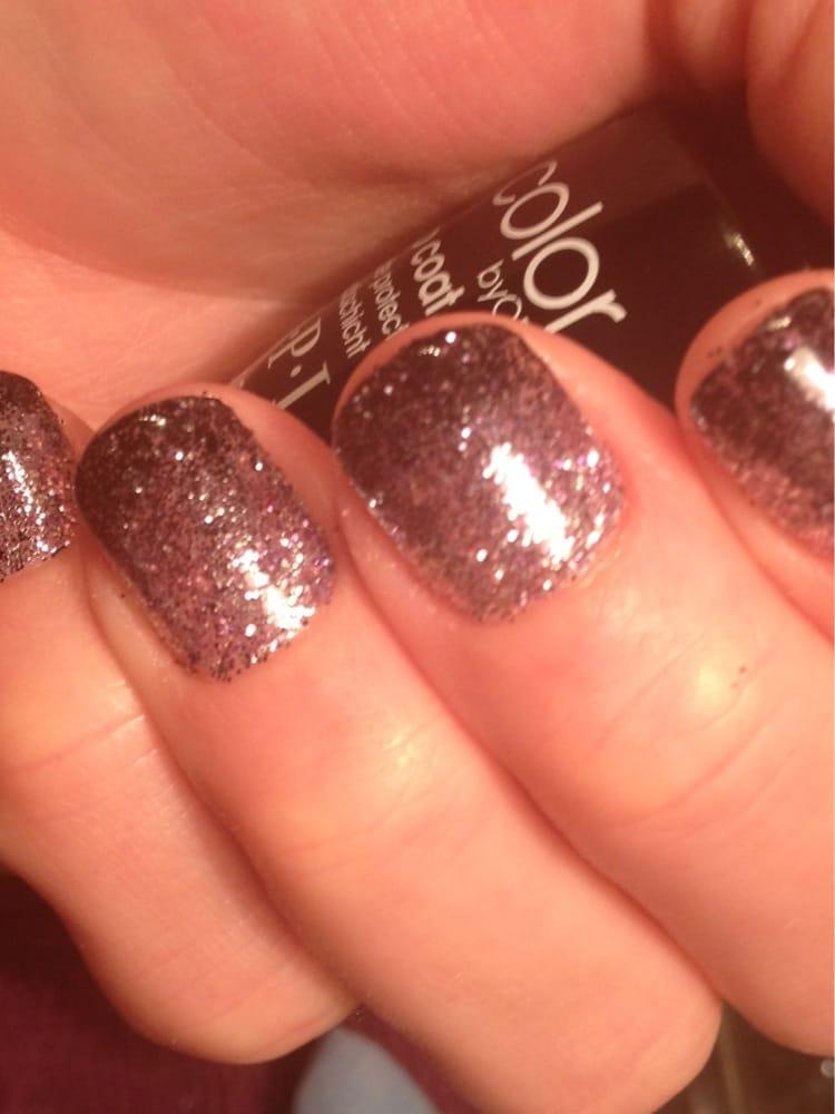 Shellac Glitter nails @Gemini nails | Yelp