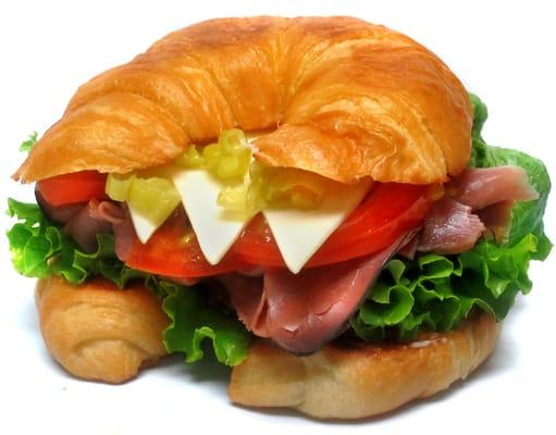 Turkey And Roast Beef Croissant Recipe — Dishmaps