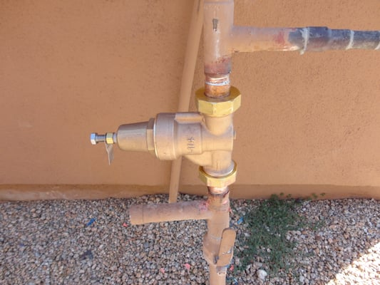 pressure reducing valve installed to lower high water. Black Bedroom Furniture Sets. Home Design Ideas