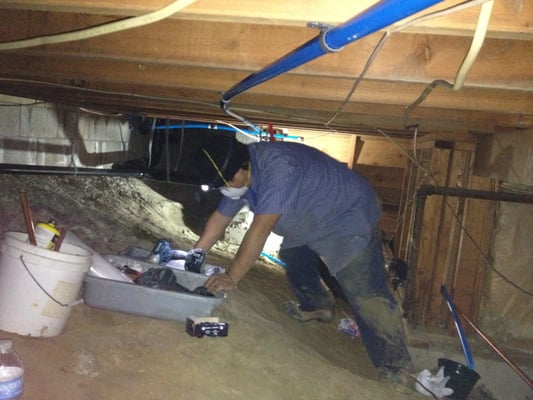 Crawl Space Pex Re Pipe Yelp