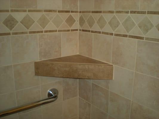 custom shower tile shelf yelp. Black Bedroom Furniture Sets. Home Design Ideas