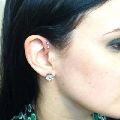 Double forward helix yelp for Helix piercing jewelry canada