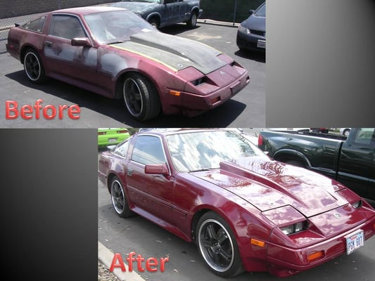 This is our normal inexpensive paint our dupont urethane paint are