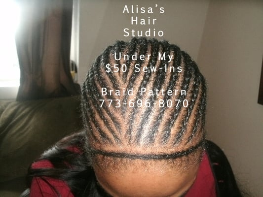 Sew in Weave Braiding Patterns http://www.yelp.com/biz_photos/alisas-hair-studio-chicago?select=lhJxlCbKbSoj0ZysMCuydg
