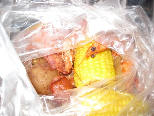 cajun boil shrimp with corn, potatoes, and sausage | Yelp