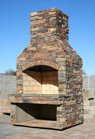 outdoor fireplace kit with copper classic veneer stone yelp