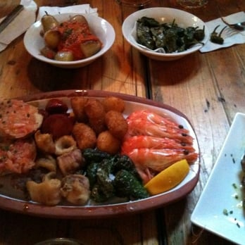 Tapas... loved the roasted green chilis there.