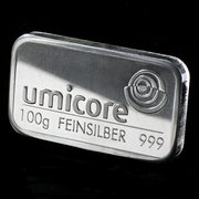 100g silver bullion bars available online at Bullion By Post