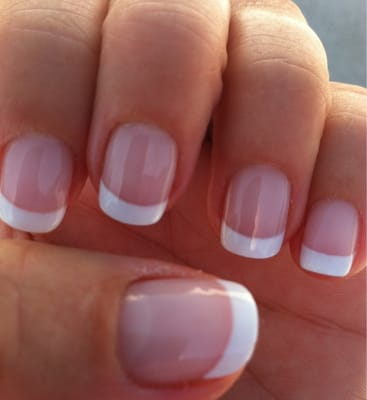 perfect job! Gel French manicure by Tu. She always does a great job