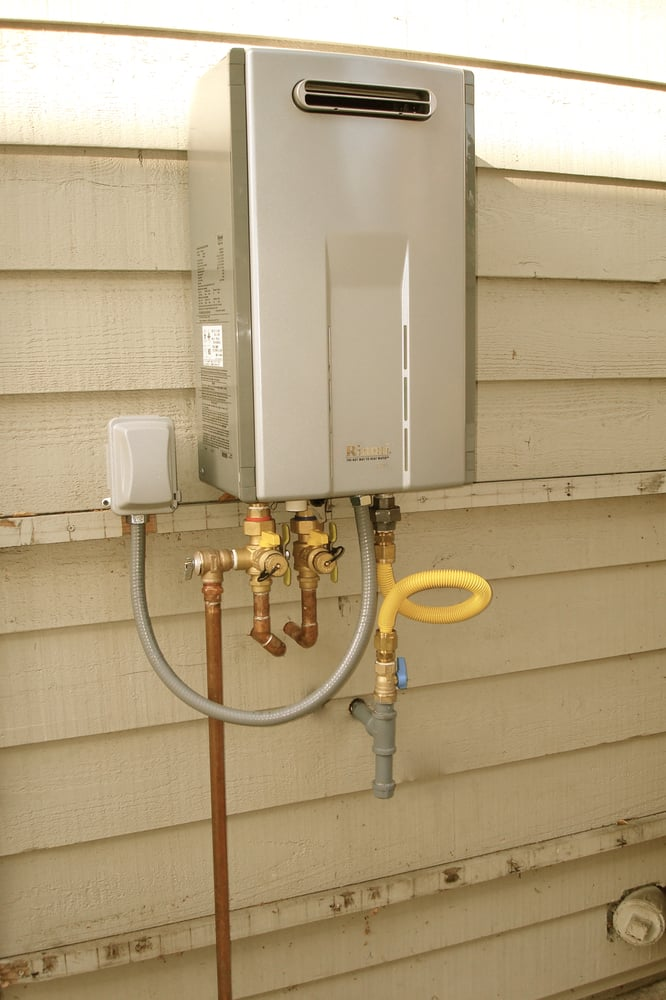 Outdoor Tankless Water Heater Installation Yelp