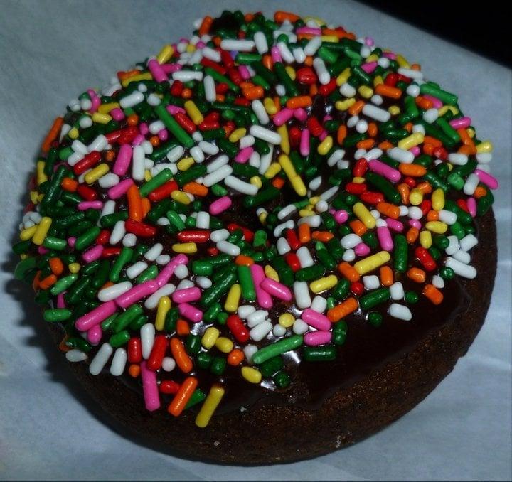 Chocolate Cake Doughnut with sprinkles | Yelp