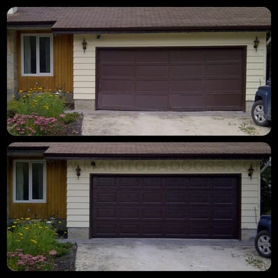 Brown 16x7 garage door yelp for 16 x7 garage door
