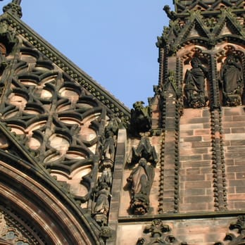 detail of Lichfield cathedral architecture