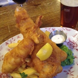 The large fish and chips