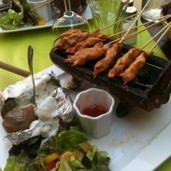 Barbecue de poulet sauce sat un d lice - Caf salon de provence ...
