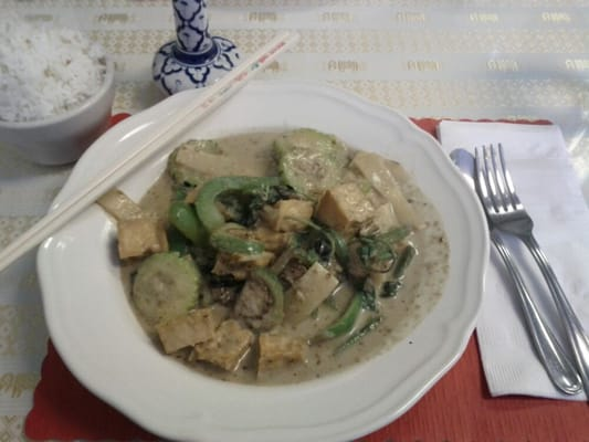 green Curry with fried tofu