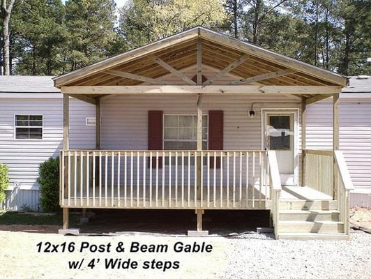 12x16 deck with gable and steps yelp for 12x16 deck plans