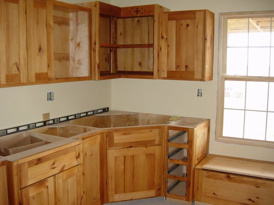 Custom cabinets made out of reclaimed barn wood by