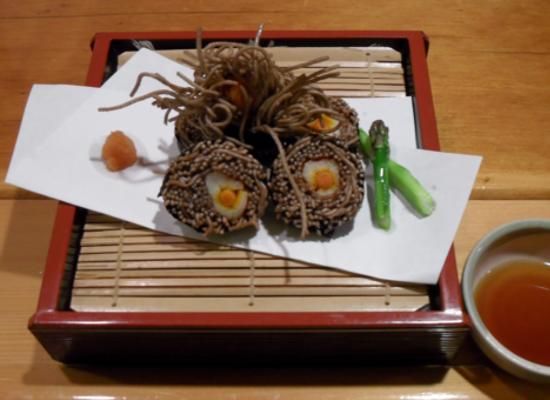 Kani-Soba Sushi: Fried Soba Noodles with Snow Crab and Yama-Gobo ...