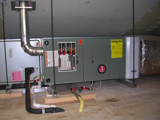 Rheem Horizontal Warm Air Furnace With Central Air