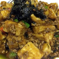 Fried tofu with minced pork