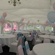 A boy and girl Christening party before the guests arrive