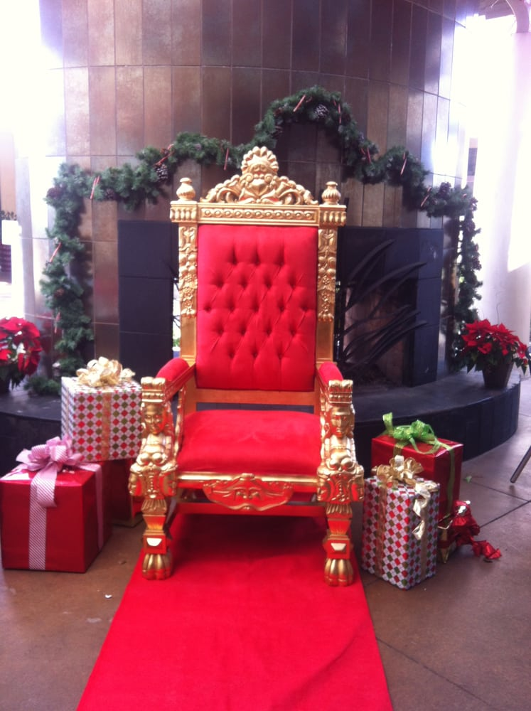 Santa Chair Gorgeous Gold Leafed Throne W Red Suede Emperor Throne Chair