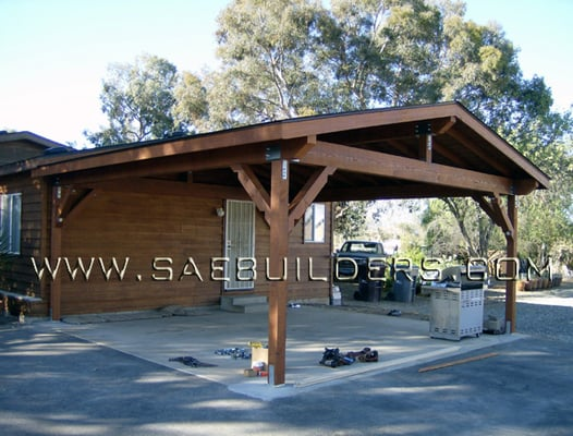 Wood Carport that replaced existing structure. | Yelp