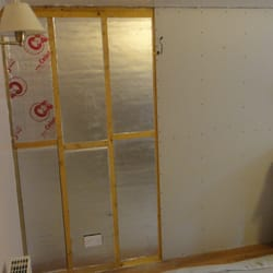 new insulation and  plasterboard,