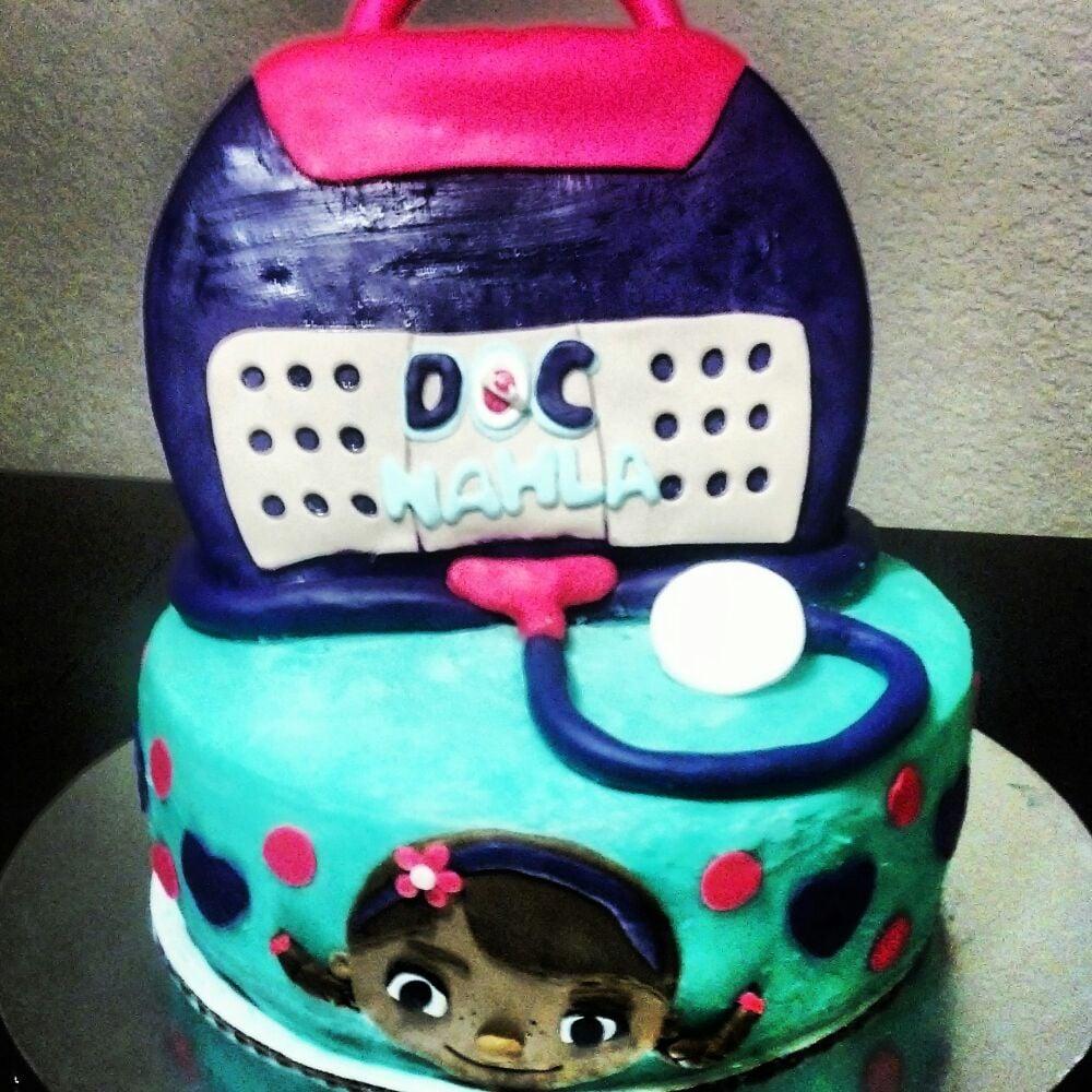 doc mcstuffins 2 tier cake